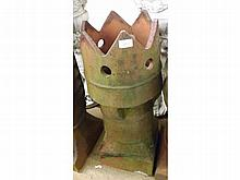 An Earthenware Chimney Pot with pierced and hippe