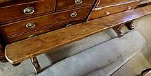 A pair of early 20th Century Rustic style Elm Top