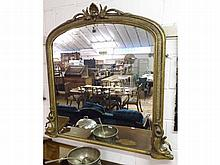 A 19th Century Gilt and Gesso Framed Large Overma