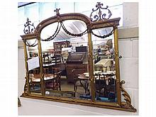 A 19th Century Adam style Overmantel Mirror with
