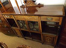 An Edwardian Rosewood Credenza/Side Cabinet, the