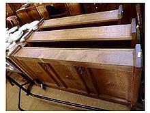 A set of three 19th Century Oak Church Book Racks