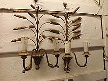 A pair of decorative Gilt and Gesso and Wirework