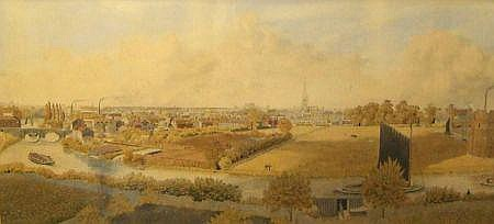 WILLIAM FREDERICK AUSTIN, WATERCOLOUR, Panoramic