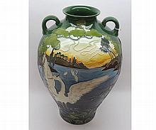 A Large Art Nouveau Vase by Julius Biela Dressler