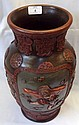 A Chinese Pottery Baluster Vase, of circular form,
