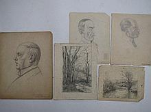 FRANK EMMANUEL (1865-1948) Head study of Prime