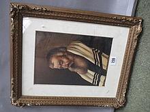 Gilt framed oil painting portrait of a Rabbi Elder