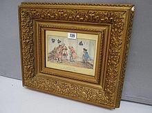 LUIGI ROSSI (1853-1923) Swiss, Watercolour 'A room