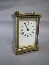 Antique brass carriage clock11H