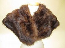 Brown fur cape