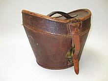 Leather hat box, with Army & Navy label