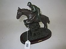 Modern bronze resin model of an Eventer