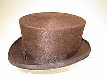 Unusual brown top hat by Churchill, London