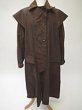 Two Drizabone waxed brown coats by W.K Backhouse,