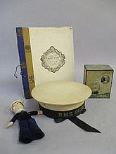 R.M.S Queen Mary sailor hat, Queen Mary doll,