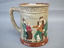 Royal Doulton handled mug 'Oliver Twist' (1949)