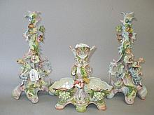 Large pair of continental porcelain sticks