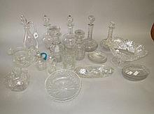 Qty of antique & modern cut glass crystal etc to