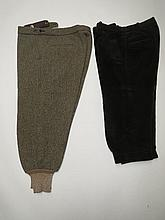 Tweed breeks by Blayden & brown cord breeks by