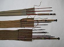 Martin James three piece fly rod, E.A.H Pownall of