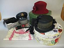 Collection of various hats (3 ladies & 3 men's)