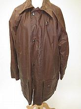 Two brown wax coats, both size L