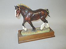 Hereford porcelain model of a heavy horse No.