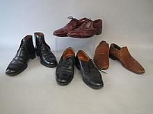 Four pairs of gentleman's vintage shoes