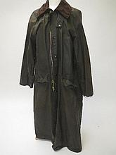 Barbour waxed Burghley coat 107cm/42