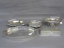 Group of three various silver plated fruit