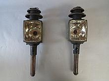 Pair Victorian coaching lamps