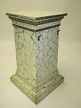 George III painted & marbled square stand with