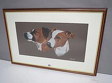 GILBERT GORDON (contemporary) study of two dogs
