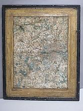 Antique framed map of Middlesex