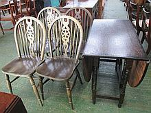 Modern drop leaf dining chairs and 4 wheel back