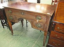 Victorian mahogany dressing table with 3 drawers