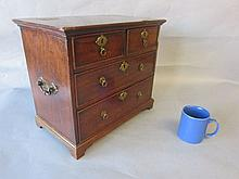 Early C19th apprentice mahogany miniature chest of