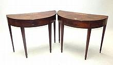 Pair good quality George III inlaid mahogany