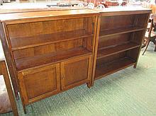 3 oak open bookcases (3)