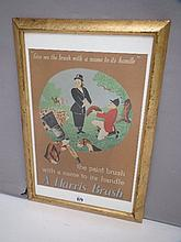 A Harris Brush, colour poster hunting scene
