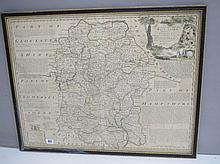 EMMANUEL BOWEN, 'Improved map of Wiltshire divided