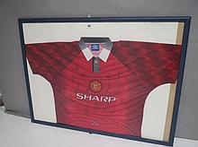 Manchester United Football Club glazed & framed