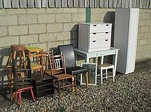 Qty of stools and general furniture and qty