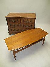 Victorian mahogany chest of two short & two long