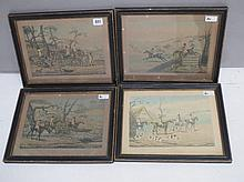 After Henry Alken, set of four hand-coloured
