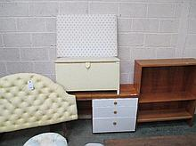 Modern bookcase, dressing table, upholstered