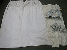 Pair cream curtains etc