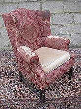 George III design wing back armchair