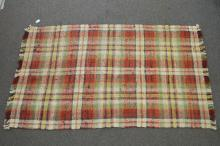 19TH CENT HOOKED THROW RUG 106